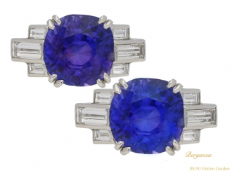 Art Deco colour change sapphire ring berganza hatton garden