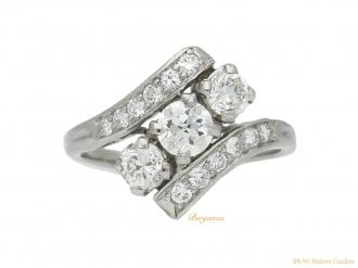 front vintage Tiffany diamond ring berganza hatton garden