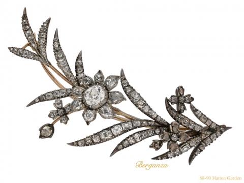front Georgian diamond brooch berganza hatton garden