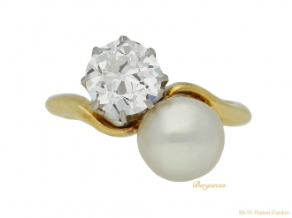 front antique diamond pearl ring hatton garden berganza