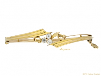 front antique yellow gold diamond bangle hatton garden berganza
