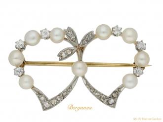 front black star frost pearl diamond brooch berganza hatton garden