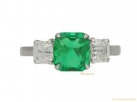 front vintage diamond emerald ring hatton garden berganza