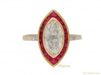 front antique ruby diamond ring hatton garden berganza