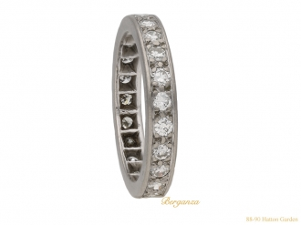 front art deco diamond eternity ring berganza hatton garden