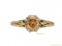 front antique fancy colour diamond ring berganza hatton garden