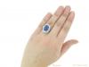 hand  vintage sapphire diamond cluster ring berganza hatton garden