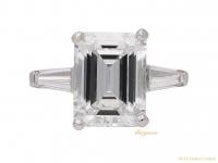 front vintage emerld cut diamond ring berganza hatton garden