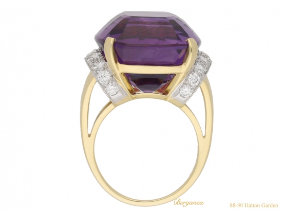 back tiffany amethyst diamond ring berganza hatton garden