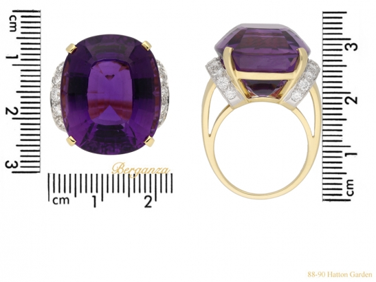 size tiffany amethyst diamond ring berganza hatton garden