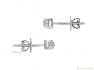 vintage diamond stud earrings berganza hatton garden