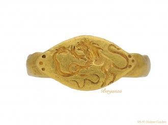 ancient roman signet lion ring hatton garden berganza