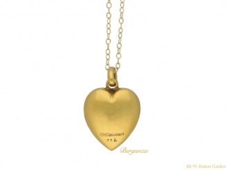 front Antique heart shape pearl pendant berganza hatton garden
