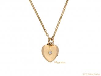 diamond set gold locket hatton garden berganza