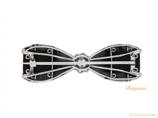 antique Cartier Diamond bow brooch hatton garden berganza
