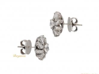 front vintage diamond cluster earrings berganza hatton garden