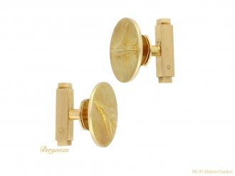 Cartier Mirage gold cufflinks berganza hatton garden