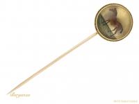 antique Essex crystal horse pin hatton garden berganza