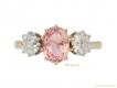 alt='Padparadscha sapphire diamond ring berganza hatton garden'