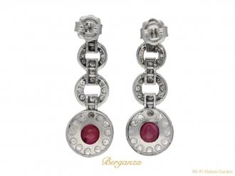 Burmese ruby and diamond earrings berganza hatton garden