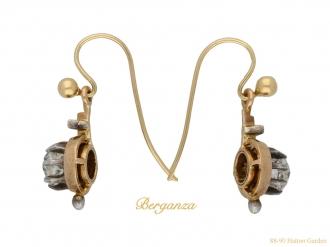 Victorian diamond drop earrings berganza hatton garden
