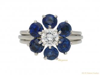 Cartier sapphire and diamond ring berganza hatton garden