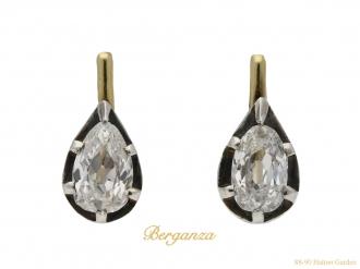 Vintage diamond drop shape earrings berganza hatton garden