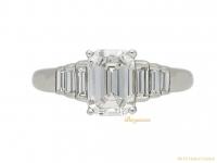 Emerald cut diamond solitaire ring berganza hatton garden