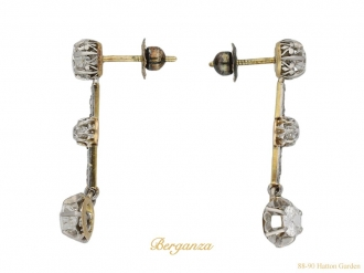 Edwardian diamond earrings berganza hatton garden