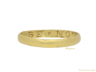 Posy ring 'BE x NOT x IDEIL berganza hatton garden