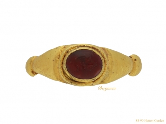 Roman intaglio ring with portrait berganza hatton garden