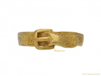 Yellow gold buckle ring, Finnish berganza hatton garden