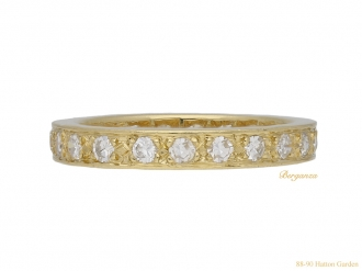 Vintage yellow gold diamond eternity ring berganza hatton garden