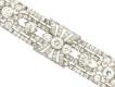 alt='front view Exceptional diamond bracelet in platinum, circa 1920.'