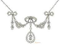 front view Belle Époque diamond necklace/brooch/tiara.