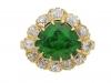 front view demantoid diamond cluster ring hatton garden berganza