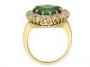 back view demantoid diamond cluster ring hatton garden berganza