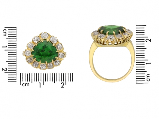 size veiw demantoid diamond cluster ring hatton garden berganza