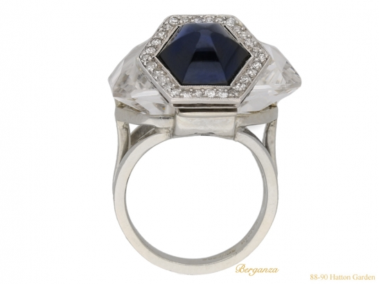 back Seaman Schepps rock crystal diamond sapphire berganza hatton garden