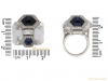 size Seaman Schepps rock crystal diamond sapphire berganza hatton garden