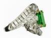 Mellerio emerald and diamond ring, circa 1960.