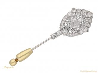 Art Deco diamond pin berganza hatton garden