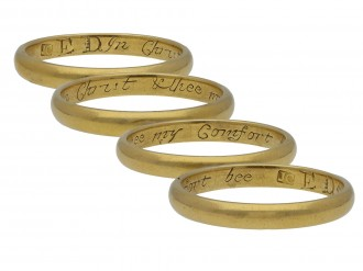 Posy ring, 'In Christ & thee my comfort bee hatton garden
