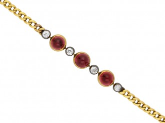 Antique garnet and diamond bracelet berganza hatton garden