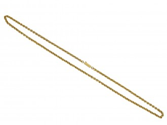 Antique fancy link yellow gold chain berganza hatton garden
