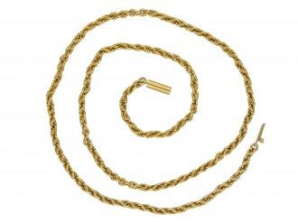 Antique fancy link yellow gold chain berganza hatton garden