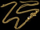 Antique gold long guard chain with snake slide hatton garden