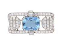 Aquamarine and diamond brooch berganza hatton garden