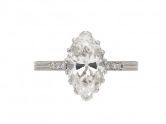 Antique marquise solitaire diamond ring berganza hatton garden
