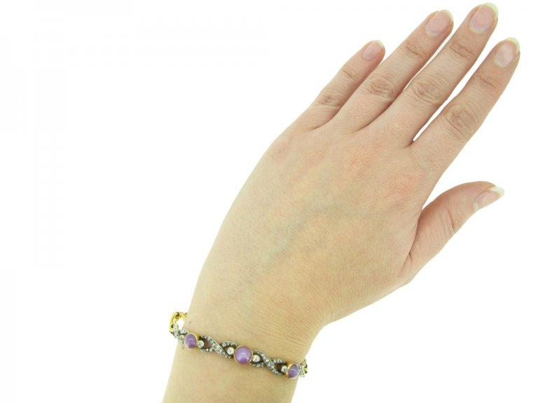 Antique star ruby and diamond bracelet berganza hatton garden